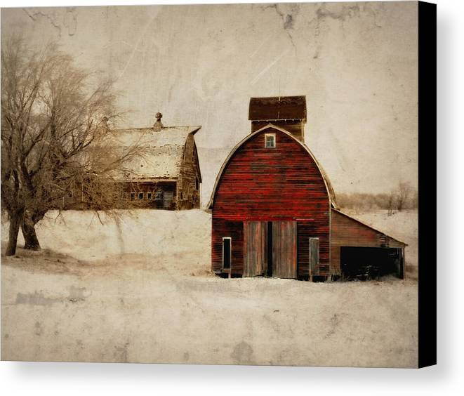Barn Canvas Print featuring the photograph South Dakota Corn Crib by Julie Hamilton