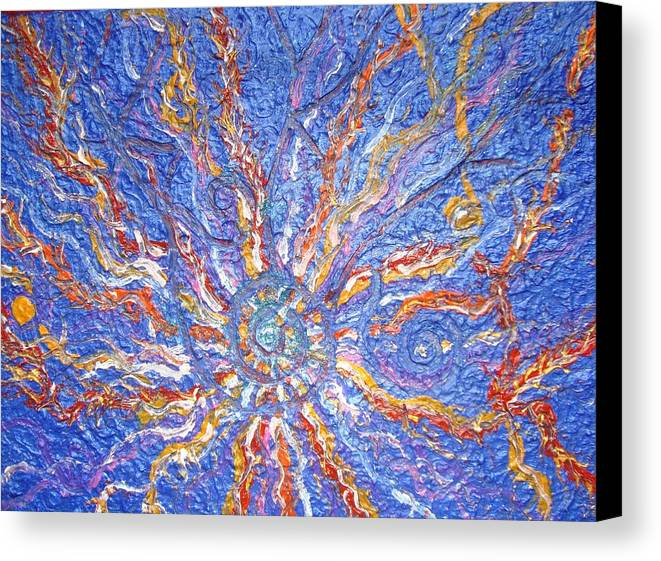 Spiritual Symbol Canvas Print featuring the painting Spirale Money Magnet by Joanna Pilatowicz