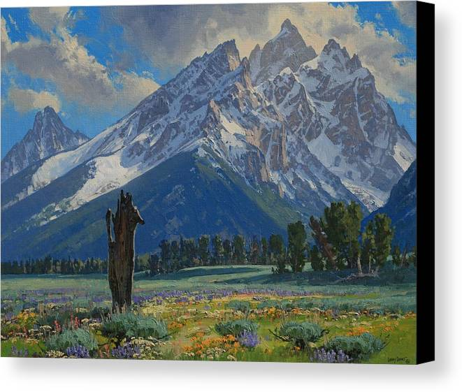 Landscape Canvas Print featuring the painting Spring Again by Lanny Grant