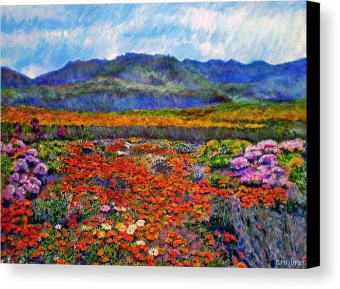 Spring Canvas Print featuring the painting Spring In Namaqualand by Michael Durst
