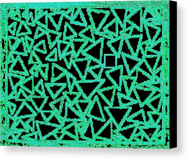 Abstract Canvas Print featuring the digital art Square One by Will Borden