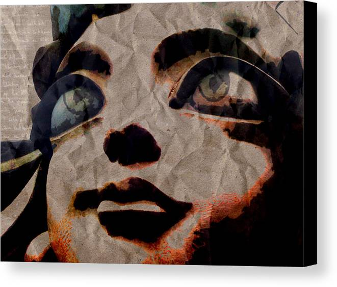 Statues Canvas Print featuring the digital art Statues Don't Cry by Shawn Ross