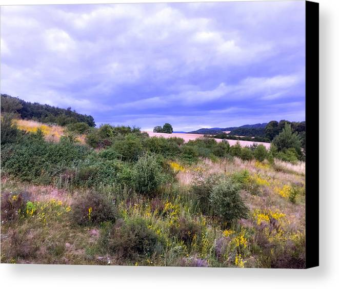 Rhineland Pfalz Canvas Print featuring the photograph Summer Storm by Stephen Settles