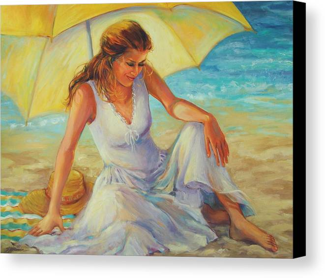 Beach Canvas Print featuring the painting Sunlit by Dianna Willman