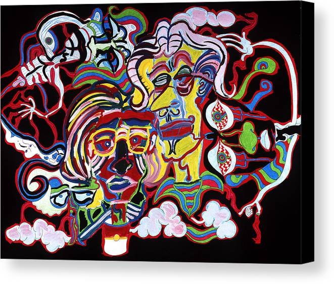 Abstract Canvas Print featuring the print The Andy Warhol And Salvador Dali Museum by William Watson