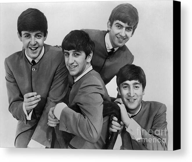 1963 Canvas Print featuring the photograph The Beatles, 1963 by Granger