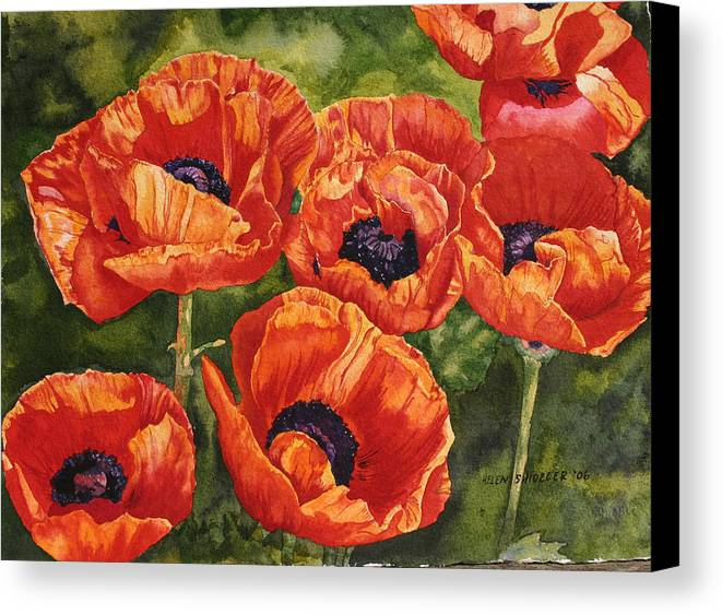 Poppy Canvas Print featuring the painting The Dance by Helen Shideler