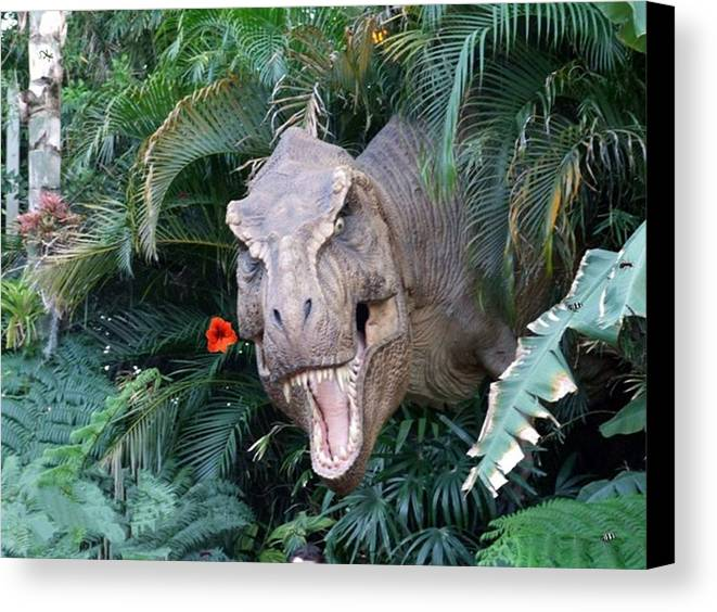 Dinosaur Canvas Print featuring the photograph The Dinosaurs Lunch by Rana Adamchick