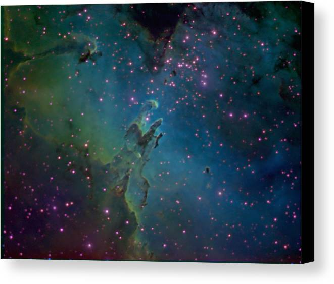 Astronomy Canvas Print featuring the photograph The Eagle by Charles Warren