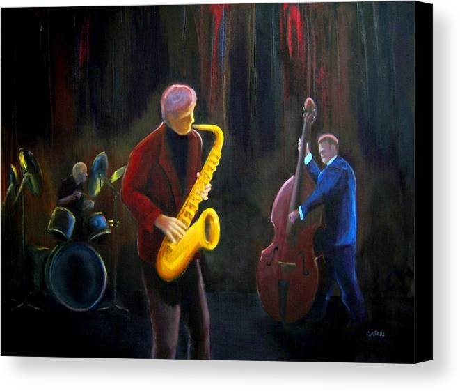 Jazz Canvas Print featuring the painting The Gig by Clemens Greis