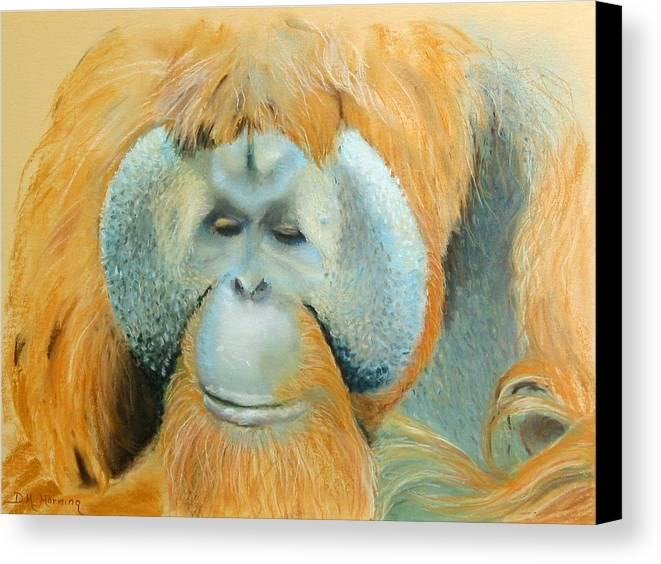 Orangutan Canvas Print featuring the painting The Good Life by David Horning