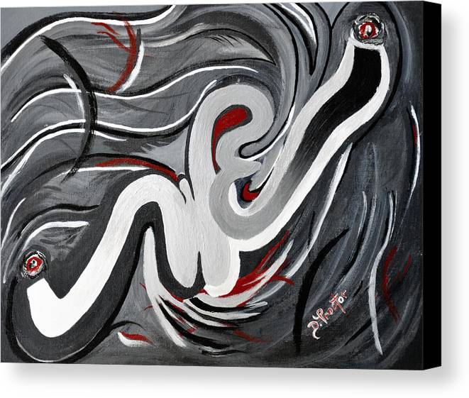 Gray Canvas Print featuring the painting The I That Is We - Soul Of Diversity by Donna Proctor