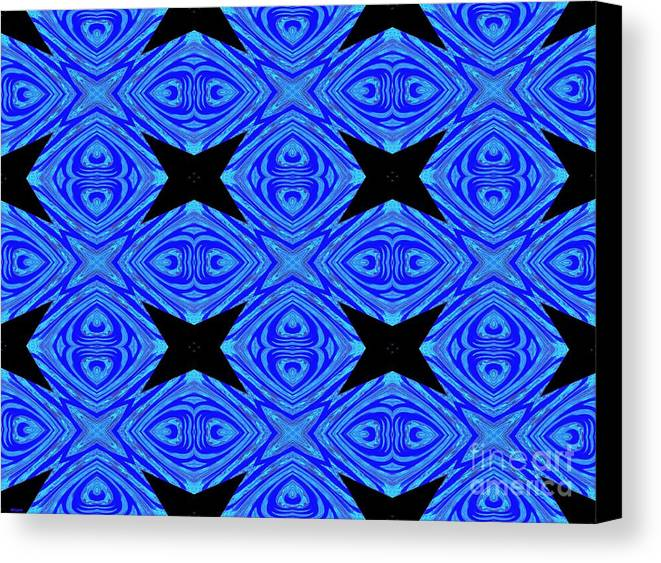 Pretty Canvas Print featuring the digital art The Mask Masquerading In Blue by Debra Lynch