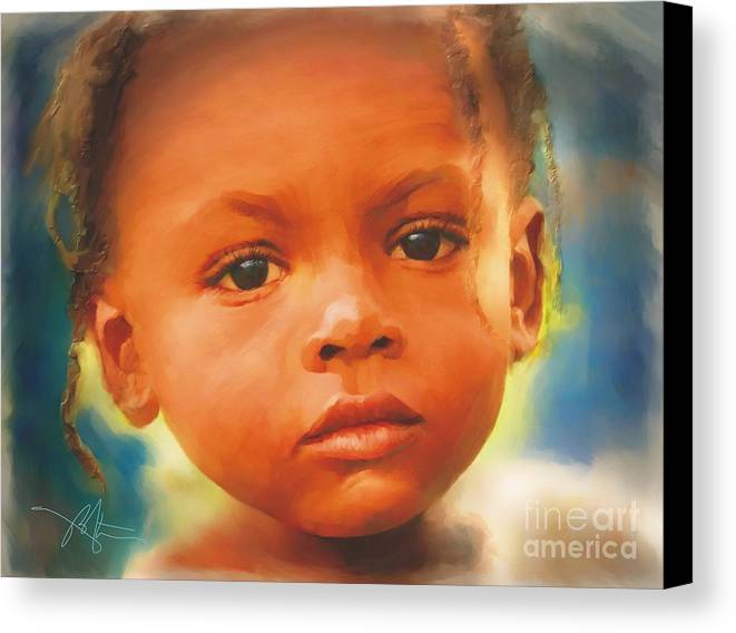 Haiti Canvas Print featuring the painting Through My Eyes by Bob Salo