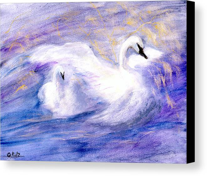 Birds Canvas Print featuring the painting Transformation by Gail Kirtz