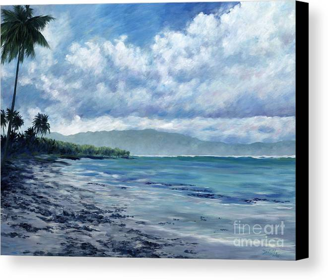 Seascape Canvas Print featuring the painting Tropical Rain by Danielle Perry