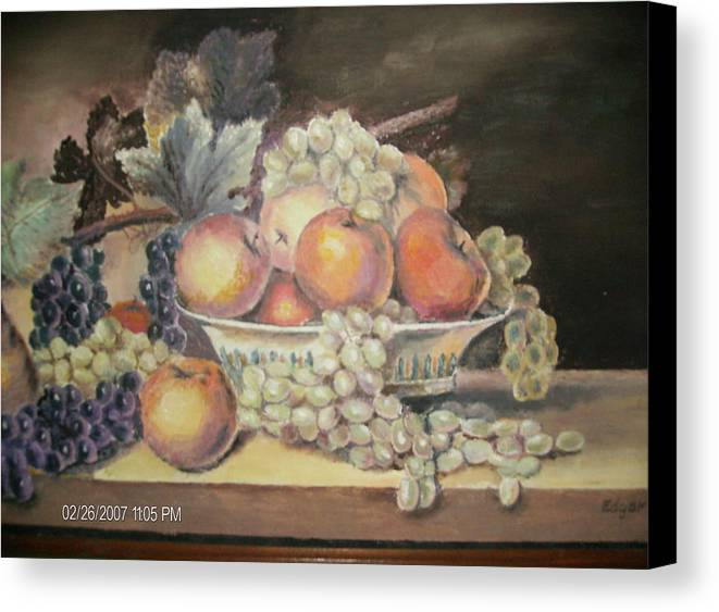 Fruit Canvas Print featuring the painting Unknown by Anne-Elizabeth Whiteway