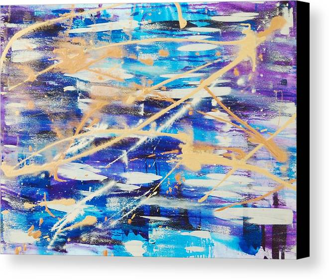 Abstract Canvas Print featuring the painting Urban Footprint by Lauren Luna