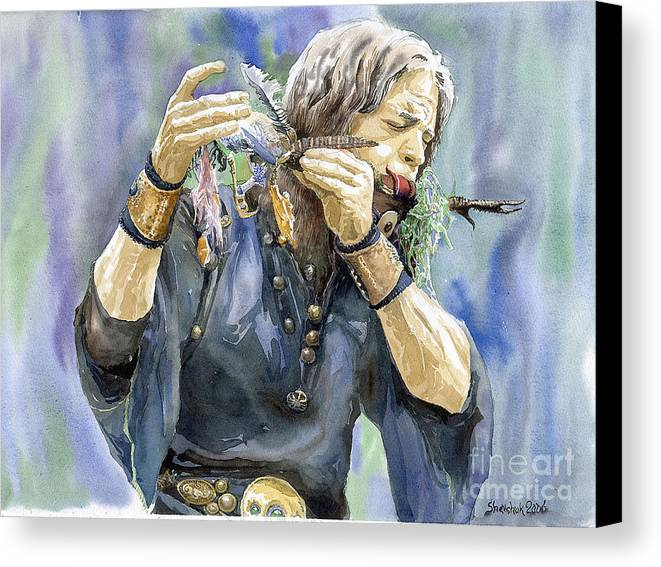 Watercolor Canvas Print featuring the painting Varius Coloribus by Yuriy Shevchuk