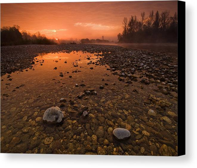 Landscape Canvas Print featuring the photograph Water On Mars by Davorin Mance