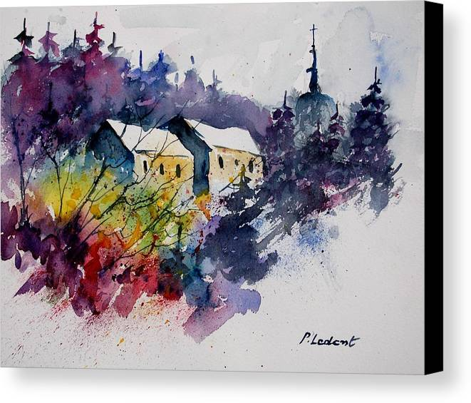 River Canvas Print featuring the painting Watercolor 231207 by Pol Ledent