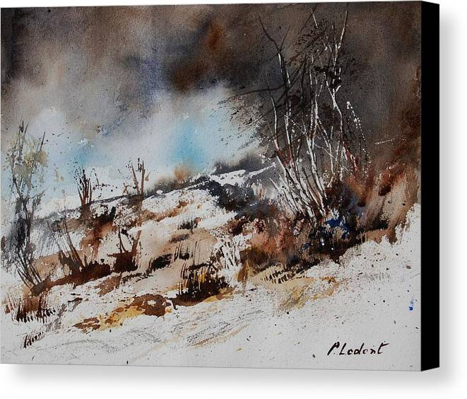 River Canvas Print featuring the painting Watercolor Jjook by Pol Ledent