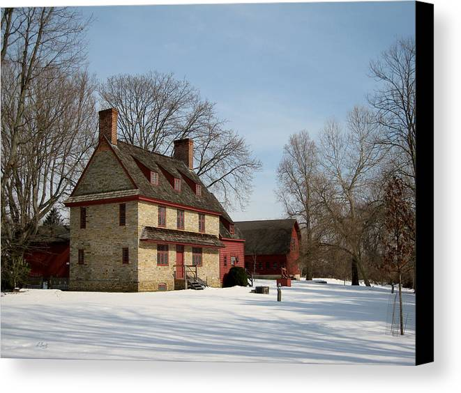 William Canvas Print featuring the photograph William Brinton House, 1704 by Gordon Beck