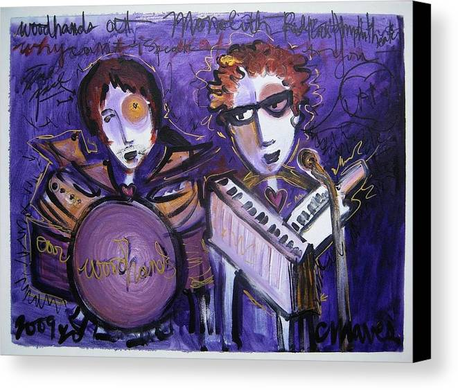 Laurie Maves Art Canvas Print featuring the painting Woodhands At Monolith by Laurie Maves ART