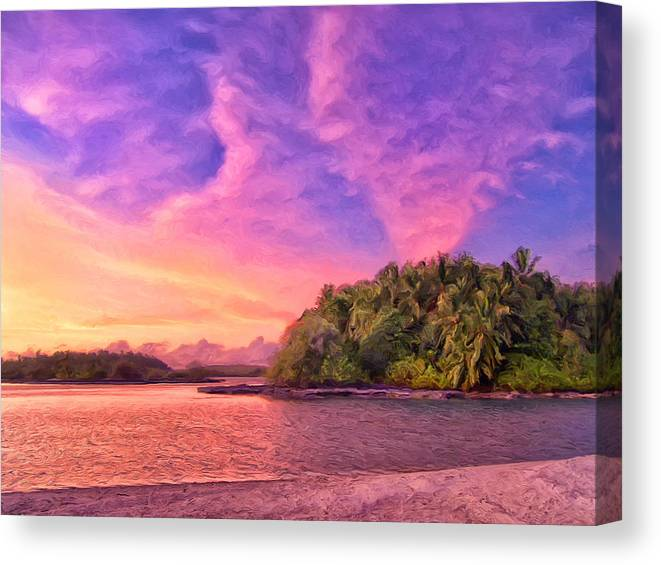 Indian Ocean Canvas Print featuring the painting Indian Ocean Sunset by Dominic Piperata