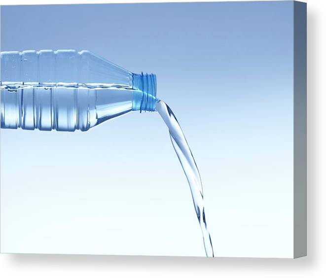 Nobody Canvas Print featuring the photograph Pouring Water From Bottle by Science Photo Library