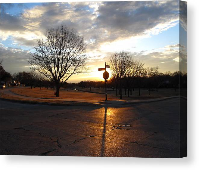 Sunset Canvas Print featuring the photograph 1313 Sunset by Mike Witte