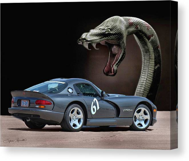 Silver Dodge Viper Canvas Print featuring the photograph 2002 Dodge Viper by Sylvia Thornton
