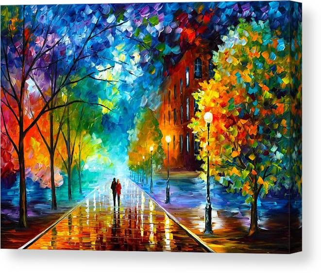 Afremov Canvas Print featuring the painting Freshness Of Cold by Leonid Afremov