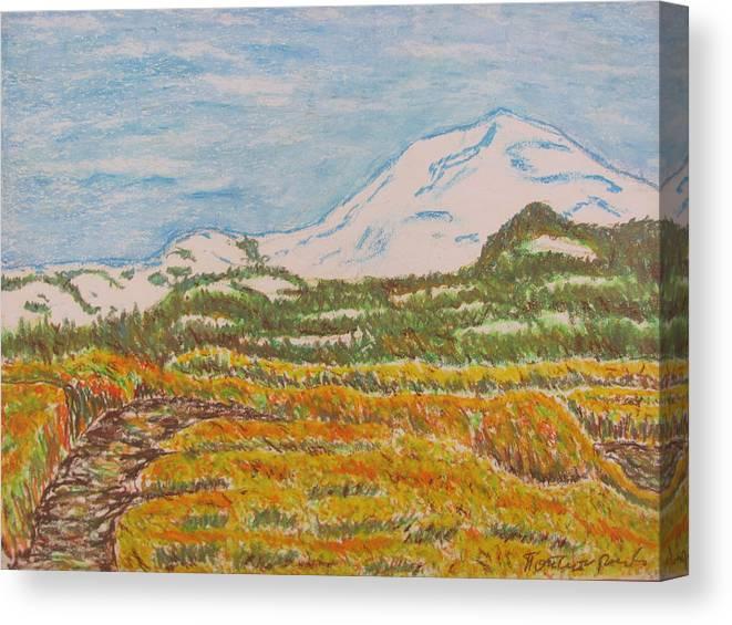 Landscape Canvas Print featuring the pastel Landscape by Risto Popstojanov