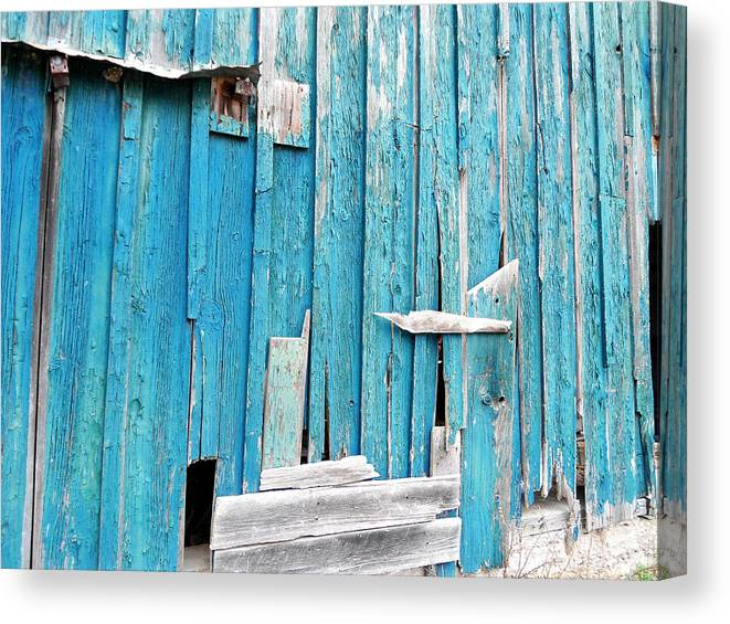 Abandoned Canvas Print featuring the photograph Barn Wall by Chloe Shackelton