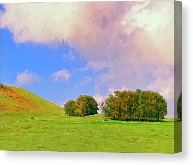 Big Island Ranch Canvas Print featuring the painting Big Island Ranch by Dominic Piperata
