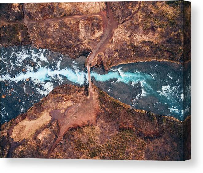 Iceland Canvas Print featuring the photograph Bruarfoss by Antonio Carrillo Lopez