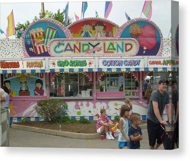 Carnival Framed Print Canvas Print featuring the photograph Carnival Candy Land by Ann Willmore