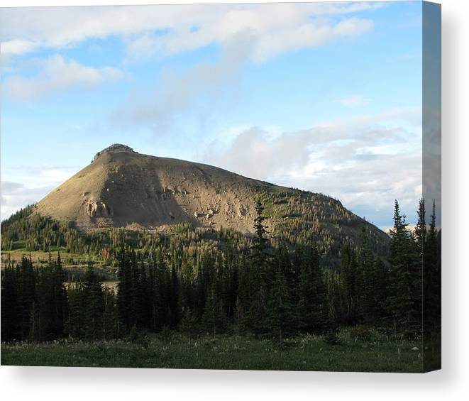 Scapegoat Massif Canvas Print featuring the photograph Cigarette Rock03 by Pam Little