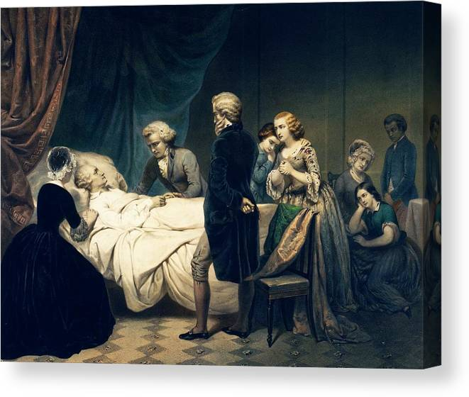 George Washington Canvas Print featuring the photograph Death Of George Washington by Library Of Congress