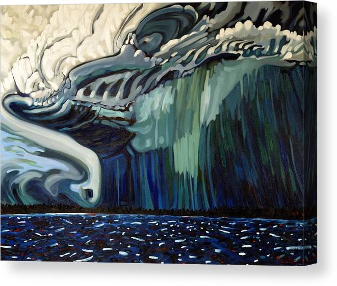 Severe Canvas Print featuring the painting Downburst by Phil Chadwick