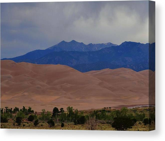 Great Sand Dunes National Park In Colorado Canvas Print featuring the photograph Great Sand Dunes National Park In Colorado by Dan Sproul