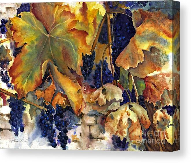 Still Life Canvas Print featuring the painting The Magic Of Autumn by Maria Hunt