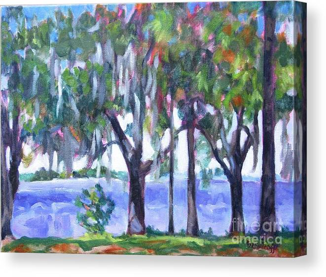Ocean Bay Canvas Print featuring the painting Looking Out On The Bay by Jan Bennicoff