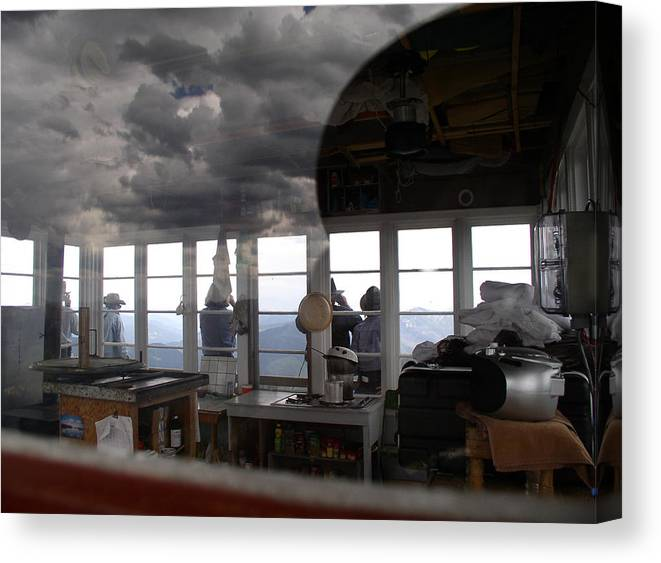 Mt. Jumbo Fire Lookout Canvas Print featuring the photograph Lookout Lookout by Pam Little