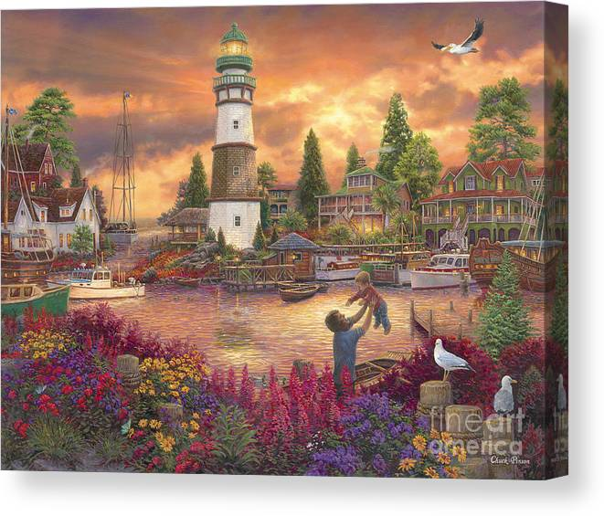 Father Canvas Print featuring the painting Love Lifted Me by Chuck Pinson