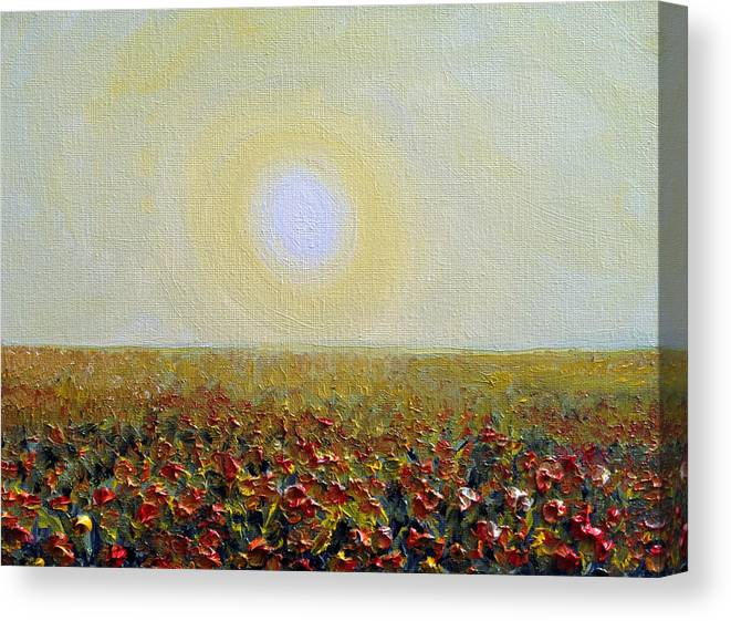 Sun Canvas Print featuring the painting Morning Sunshine Three by Deb Wolf