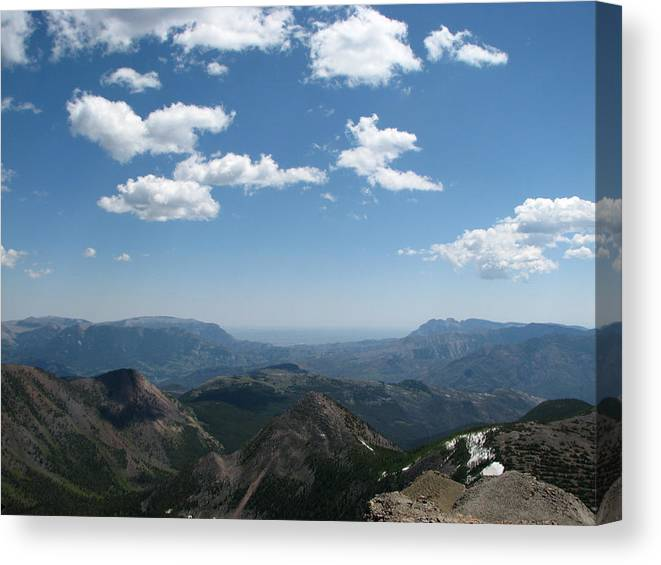 East Of Prairie Reef Fire Lookout Canvas Print featuring the photograph Prairie Reef Lookout East by Pam Little