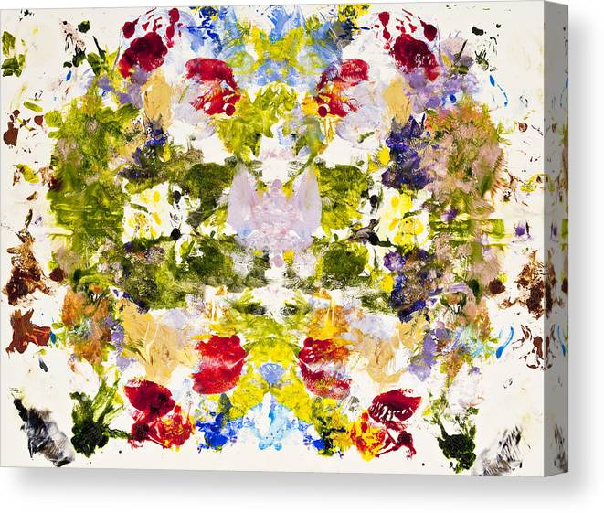 Rorschach Canvas Print featuring the painting Rorschach Test by Darice Machel McGuire
