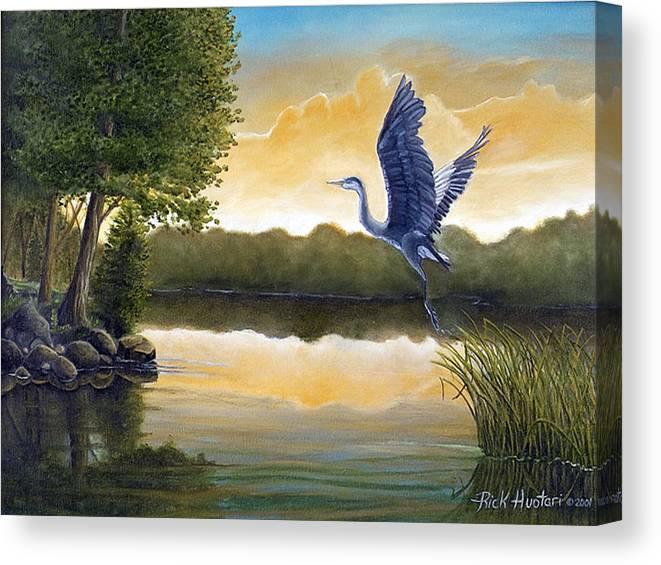 Rick Huotari Canvas Print featuring the painting Serenity by Rick Huotari